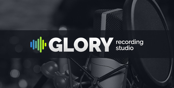 GLORY - Recording Sound Studio HTML Website Template - Music and Bands Entertainment