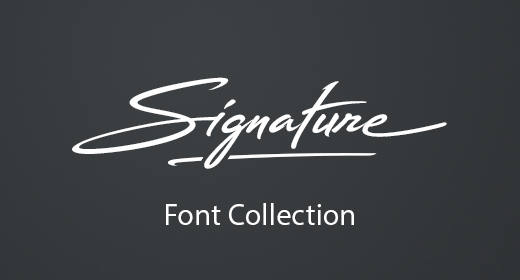 Signature Font Collection