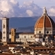 Beautiful Views of Florence and Cathedral Santa Maria Del Fiore, Evening, Florence, Italy