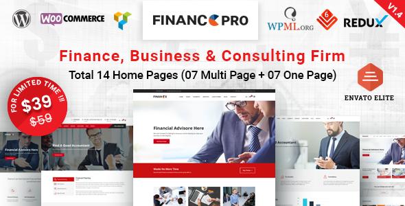 Finance Pro - Finance Business & Consulting WordPress Theme