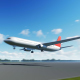 The Plane Landing to Sacramento in USA - VideoHive Item for Sale