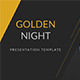 Golden Night Presentation Template