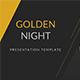 Golden Night Presentation Template - GraphicRiver Item for Sale