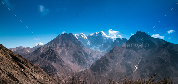 Beautiful snow-capped mountains - Stock Photo - Images
