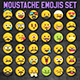 Vector Emoji Moustache Set - GraphicRiver Item for Sale