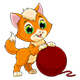 Kitten with a Ball of Threads - GraphicRiver Item for Sale