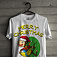 Christmas T-Shirt with Cute Monkey Theme