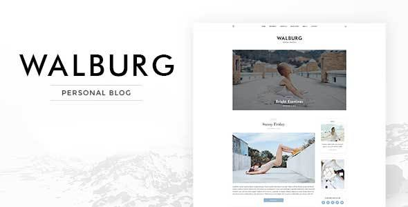 ThemeForest Walburg WordPress Personal Blog Theme 20814499