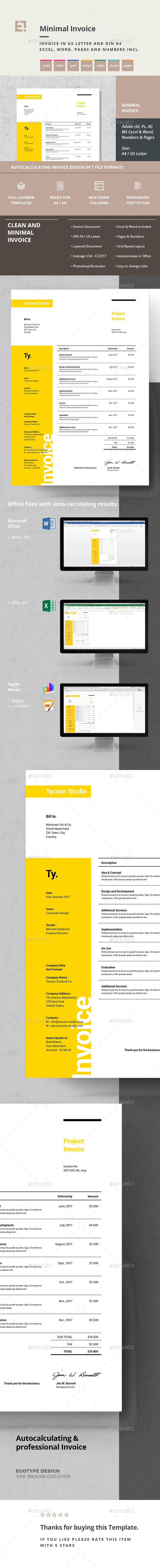 GraphicRiver Invoice 21017450