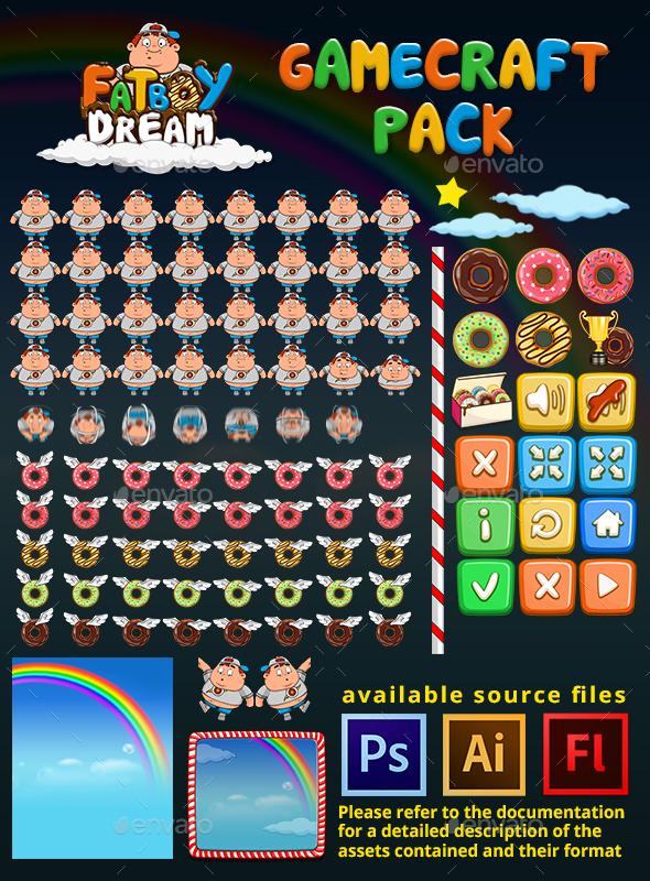 GraphicRiver FatBoy Dream Game Assets 21017470