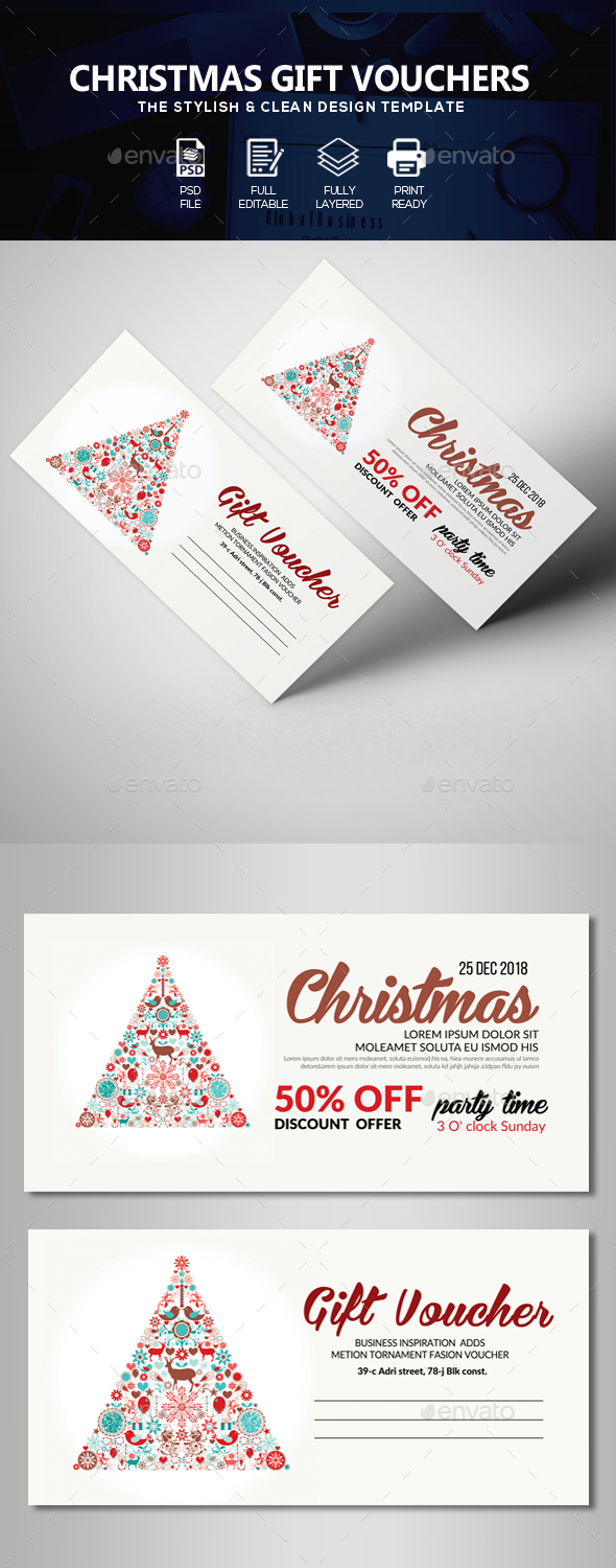 GraphicRiver Christmas Gift Voucher 21017505