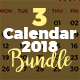 2018 Calendar Bundle Template