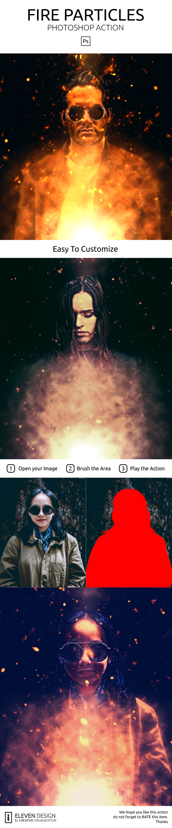 GraphicRiver Fiire Particle Photoshop Action 21017962
