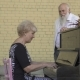 Old Man Presents a Gift To Wife Playing on Piano - VideoHive Item for Sale