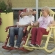 Old People Swings in Rocking Chair and Eats Popcorn - VideoHive Item for Sale