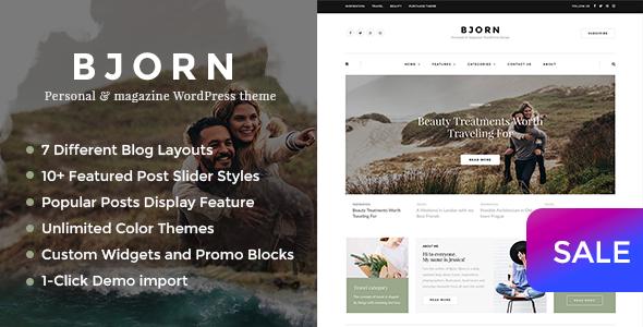 Bjorn - Personal WordPress Blog Theme - Personal Blog / Magazine