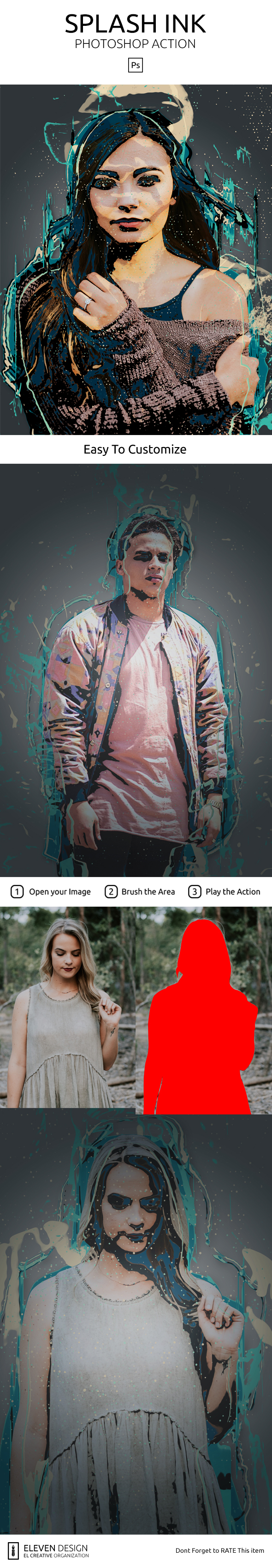 GraphicRiver Splash Ink Photoshop Action 21018022