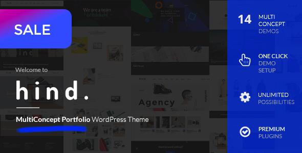 Hind - Multi-Concept Portfolio WordPress Theme - Portfolio Creative