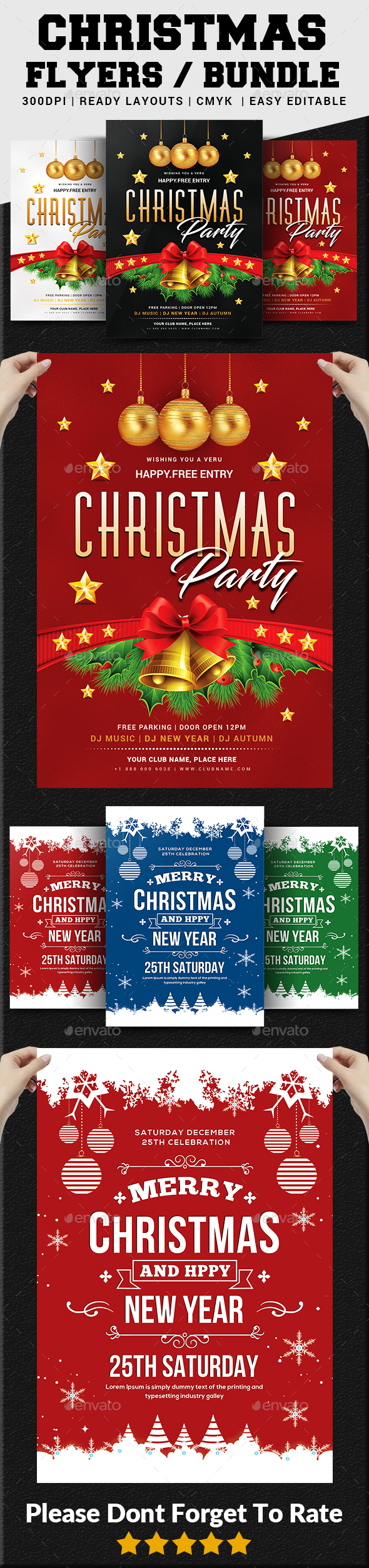 Christmas Flyers Bundle - Events Flyers
