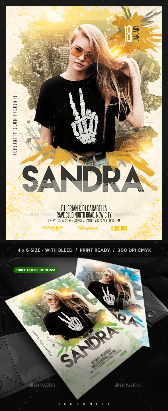 GraphicRiver Guest DJ Artist Flyer 21018118
