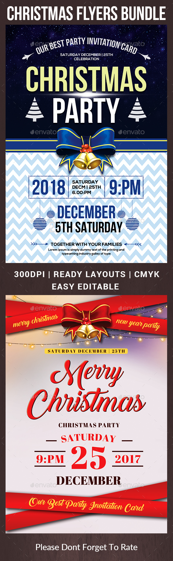 Christmas Flyers Bundle Template - Events Flyers