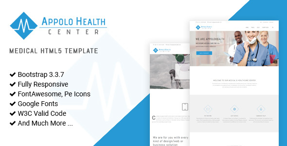 ThemeForest Appolo Medical HTML5 Website Template 21018201