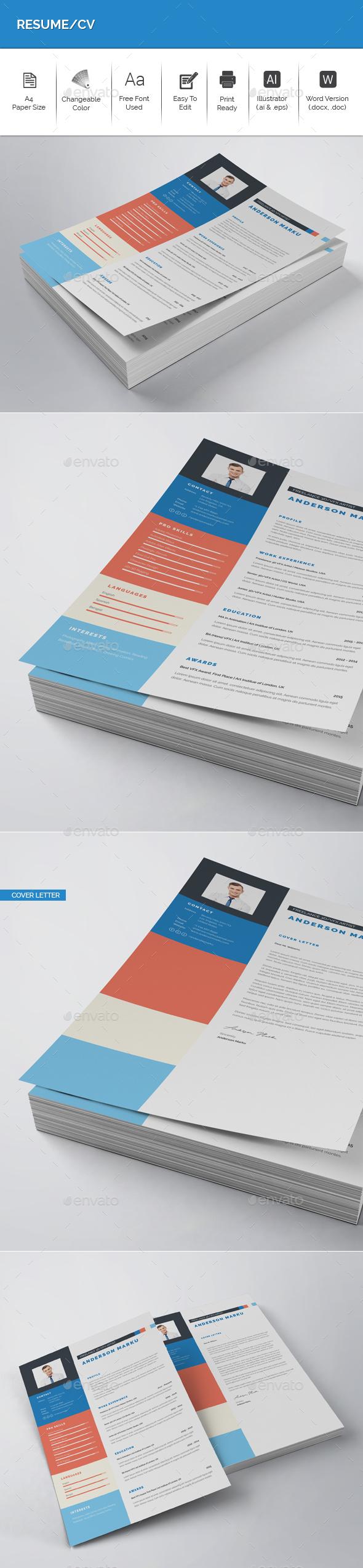 GraphicRiver Resume CV 21018382