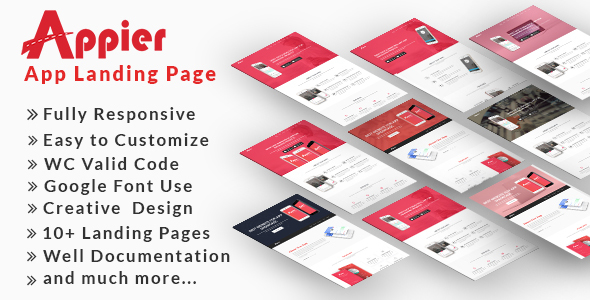 ThemeForest Appier HTML5 App Landing Page 20913445