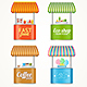 Street Fast Food Market Stall Set - GraphicRiver Item for Sale