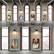 Art Gallery Interior Painting Mockup