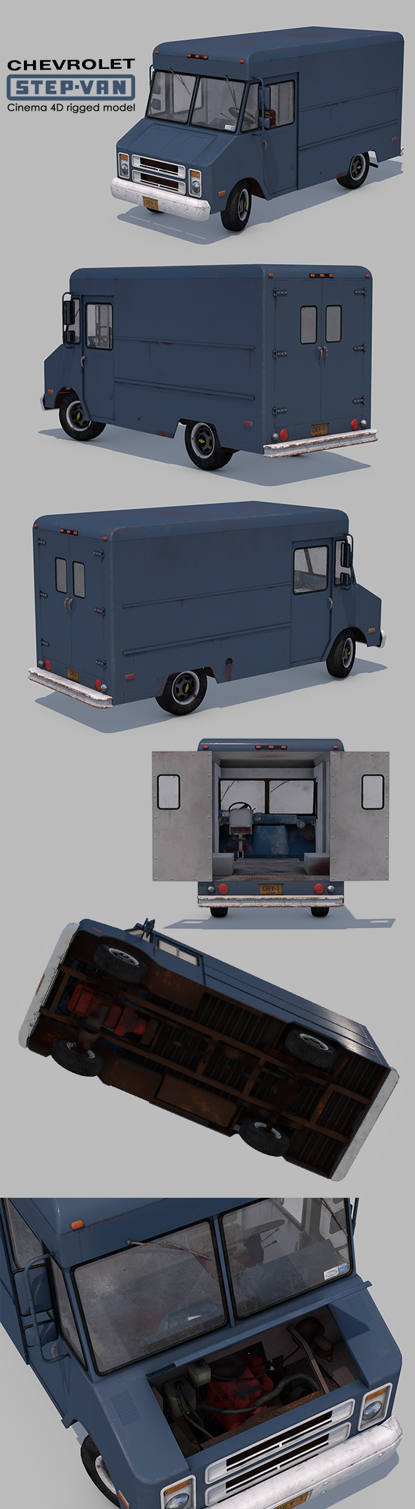 3DOcean Chevrolet Step-Van P20 Rigged 21018731
