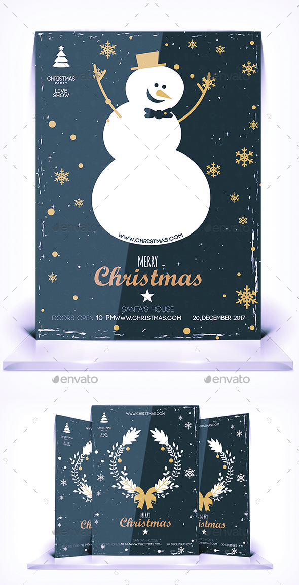 GraphicRiver Christmas Journey Flyer 21018848