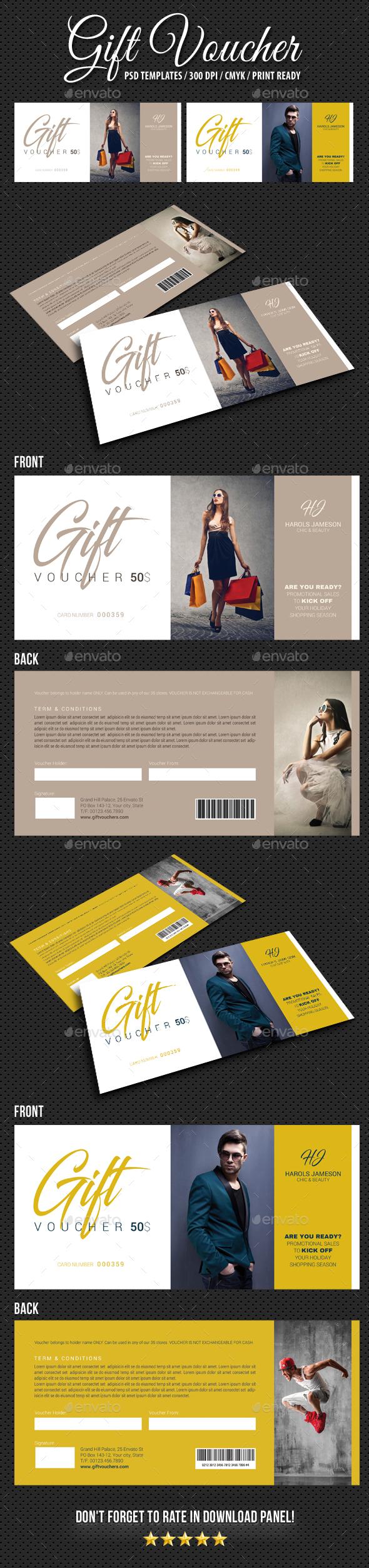 GraphicRiver Gift Voucher V12 21018901