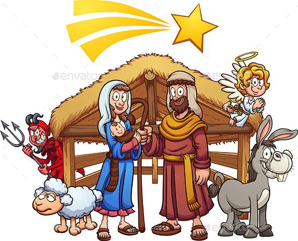 Nativity Scene - Christmas Seasons/Holidays