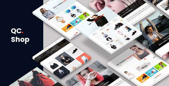ThemeForest QCShop eCommerce PSD Template 21019113