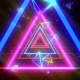 Neon Triangles Tunnel VJ Loop - VideoHive Item for Sale