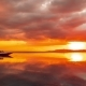 Orange Sunset on the Background Boat on the Beach of Gili Meno, Indonesia - VideoHive Item for Sale
