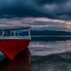 Red Fishing Boat on the Background Dramatic Sunset in the Gili Islands, Indonesia - VideoHive Item for Sale