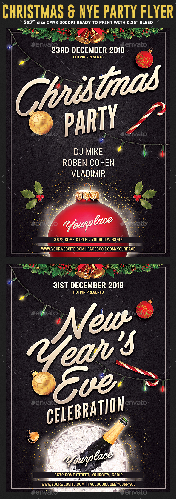 Christmas / New Year's Eve Flyer - Clubs & Parties Events