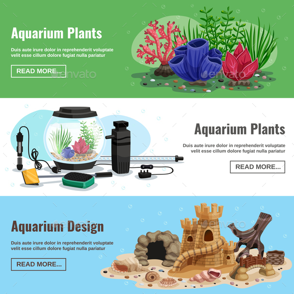 GraphicRiver Aquarium Horizontal Banners 21019341