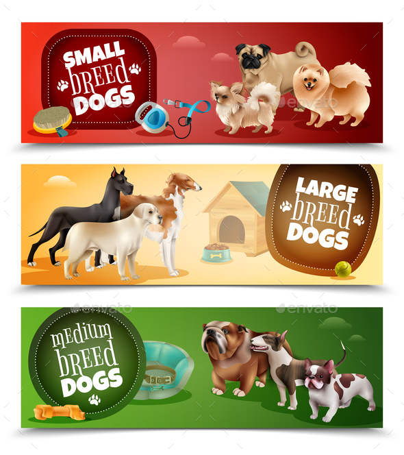 GraphicRiver Dog Breeds Banner Set 21019346