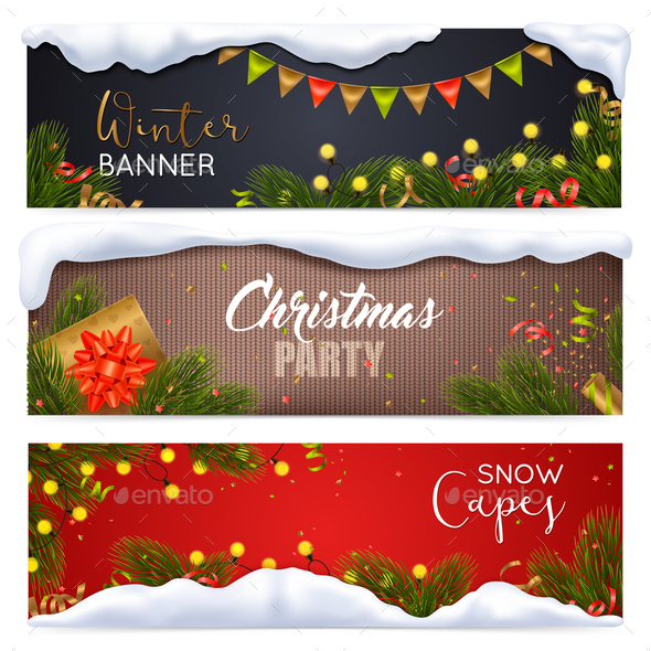 GraphicRiver Christmas Banners Set 21019347