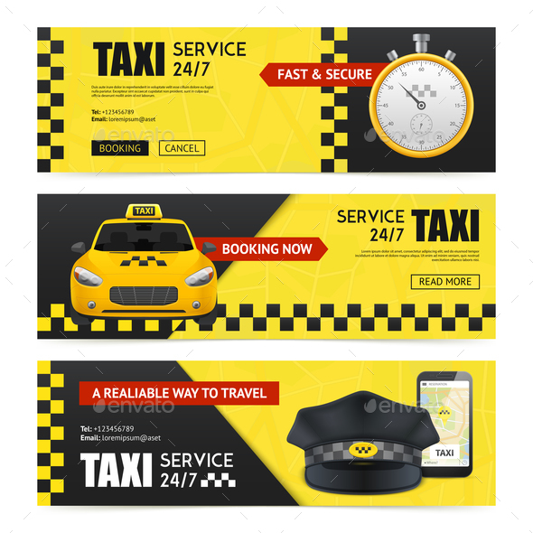 Taxi Banners Set - Concepts Business