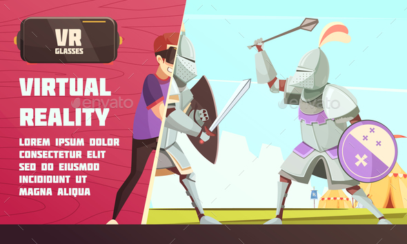 GraphicRiver Virtual Reality Medieval Contest Ad 21019364