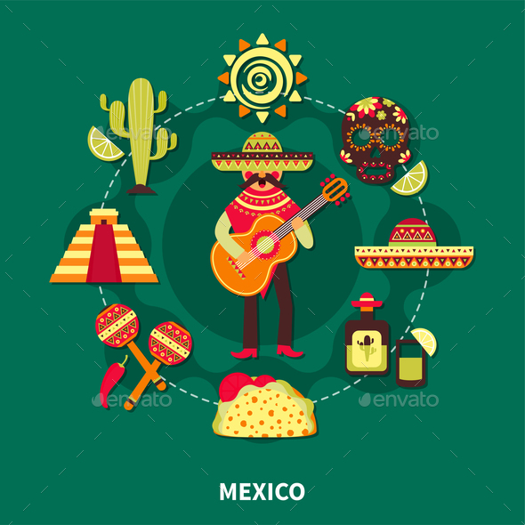 GraphicRiver Mexico Travel Illustration 21019371