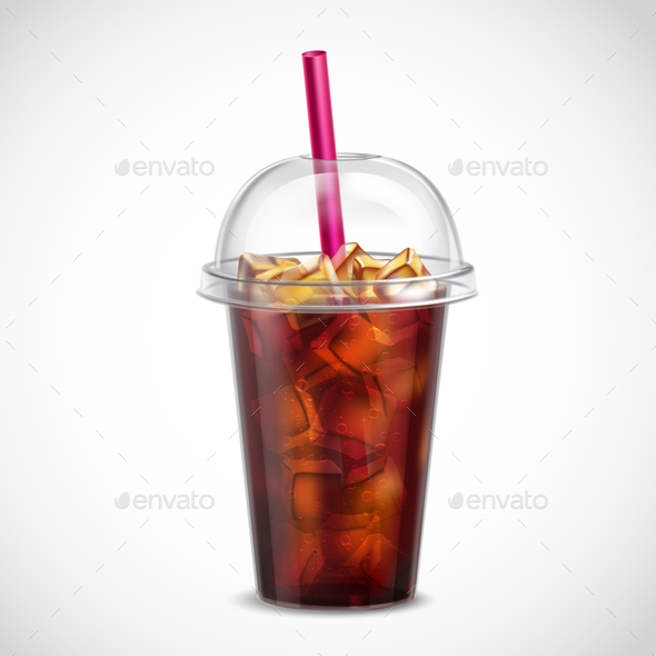 GraphicRiver Cola with Ice Takeaway Realistic 21019388