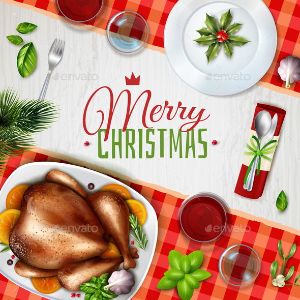 GraphicRiver Realistic Turkey Christmas Illustration 21019389