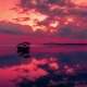 Fishing Boat on the Gili Air Sea with a Dramatic Red Sunset, Indonesia - VideoHive Item for Sale