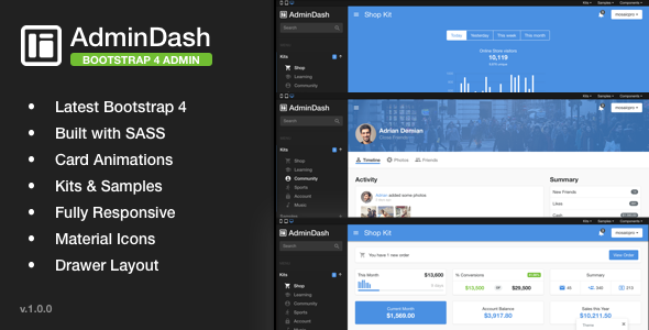 Image of AdminDash - Bootstrap Admin Template