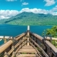 a Wooden Ship on Lake Buyan and Tamblingan on Bali Island - VideoHive Item for Sale